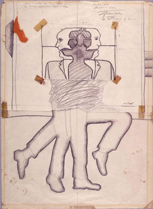 Estudio para los peatones ca.1966. Luis Gordillo