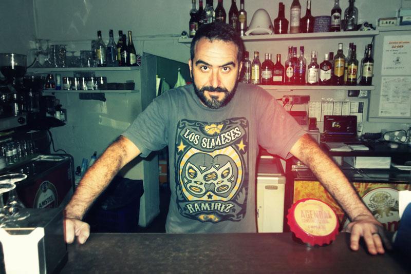 Pedro, en el Bigornia Café