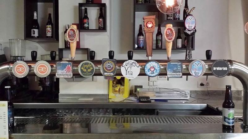 Cervecería Valencia on tap