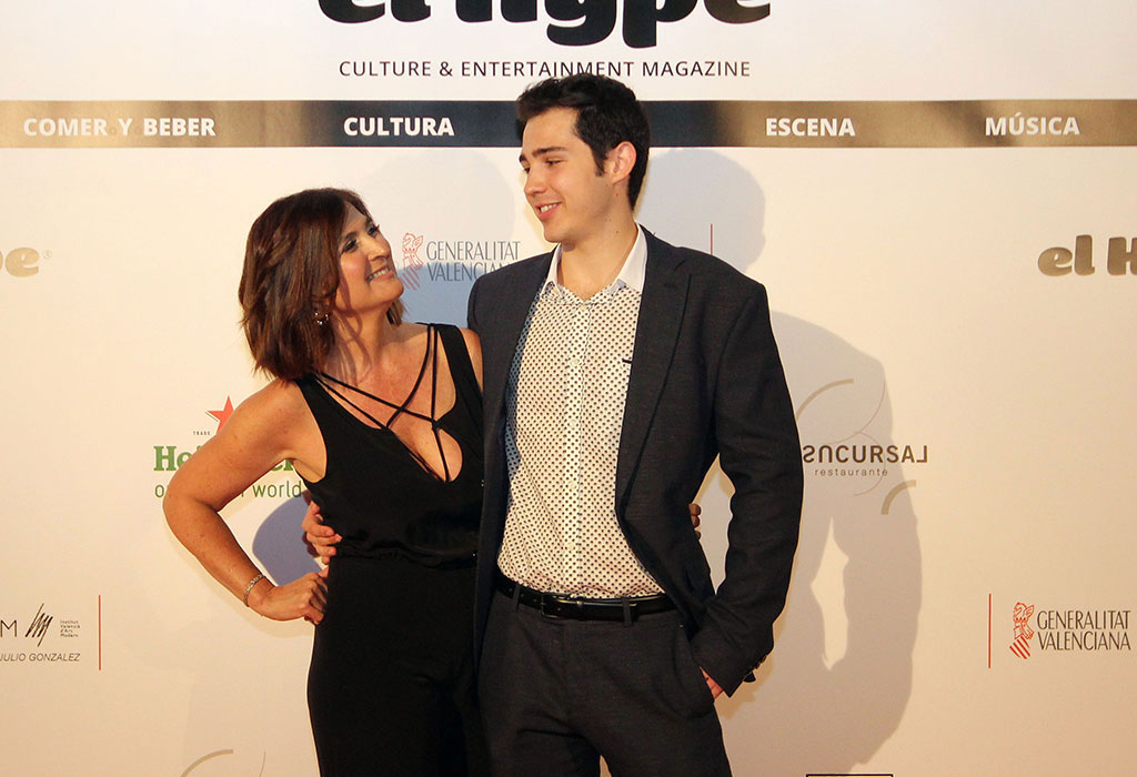 Eva Peydró y Aleix, que estrenaba traje, heredero del emporio mediático EL HYPE.