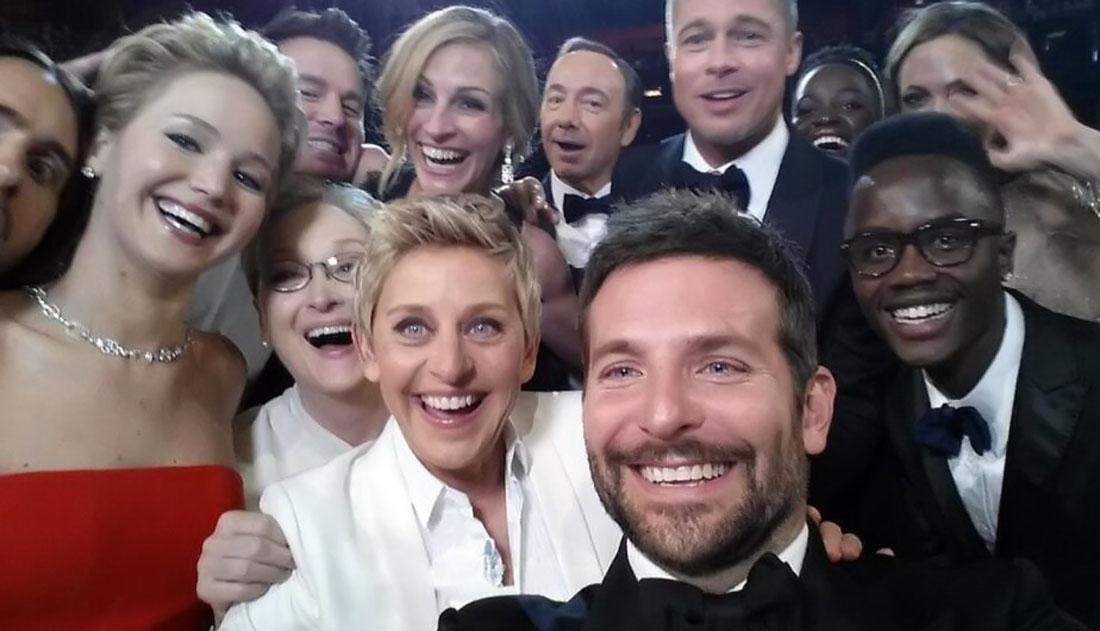 Selfie Oscars - Ellen Degeneres