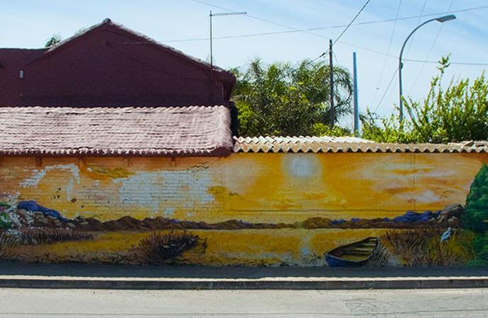 Grafiti en una casa de la Carretera Rochs. Foto: Juanjo Hernández