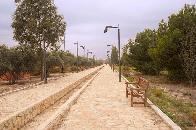 Extremo del parque ubicado junto a la ZAL.Foto: Juanjo Hernández