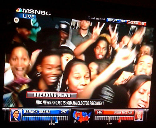 Estudiantes afroamericanas celebran la victoria de Obama - Flickr