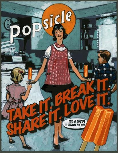 Popsicle advertising vintage