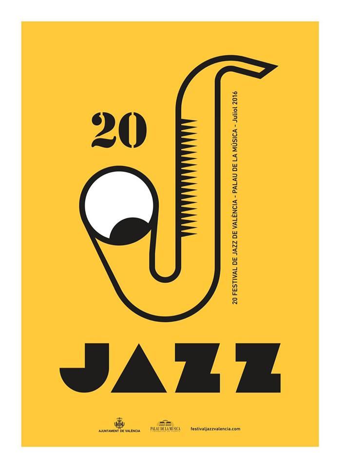 Cartel del 20 Festival de Jazz de Valencia, diseñado por Daniel Nebot.