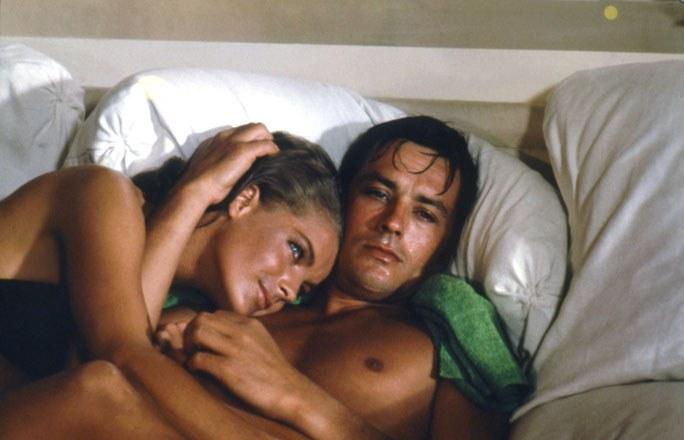 Romy Schneider y Alain Delon (La piscina, 1969)