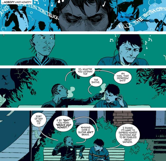 Una página de Clase Mortal con cameo de The Smiths