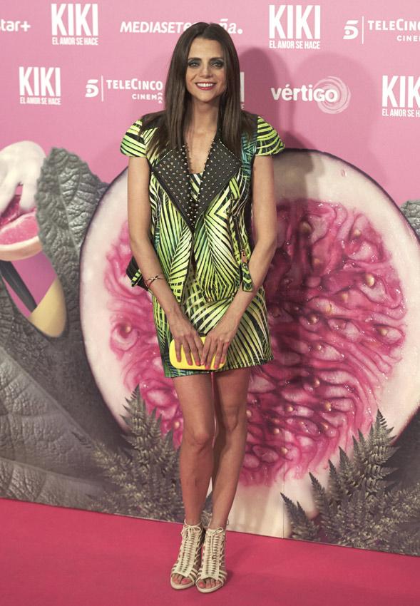 Acertando, como siempre, Macarena Gómez con su outfit rockero y tropical, combinación nada sencilla. ¡Fabulosa!