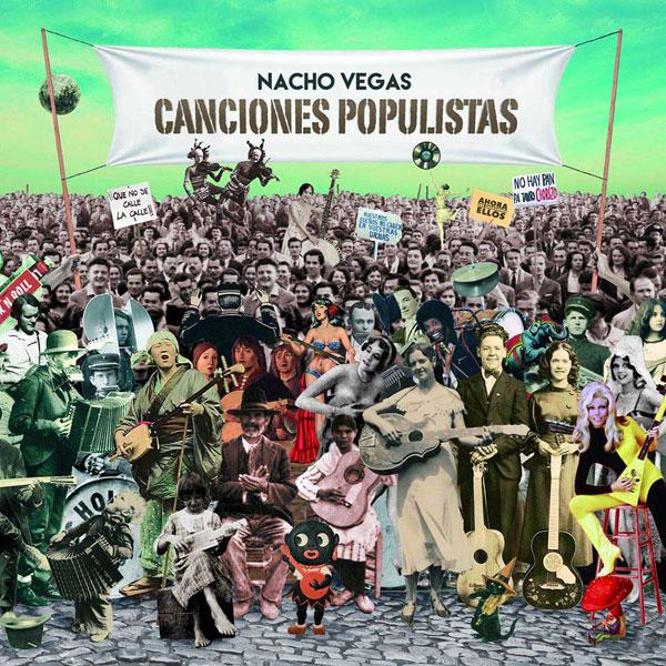 La portada de Canciones populistas, jugando actualizar la del Sgt. Pepper's Lonely Hearts Club Band