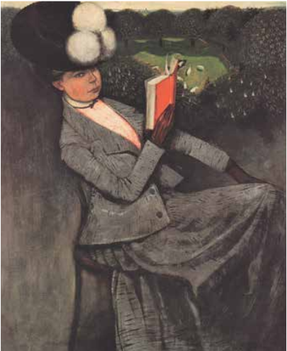 Portrait of a Lady de Karl Walser (el hermano de Robert)