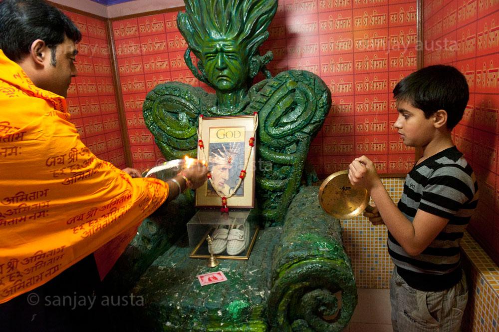 El templo dedicado a Amitabh Bacchan en Calcuta. © Sanjay Austa