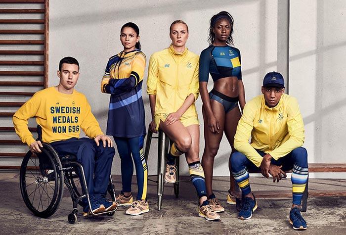 Amarillo y azul, prendas low cost... Es sencillo adivinar país y marca.