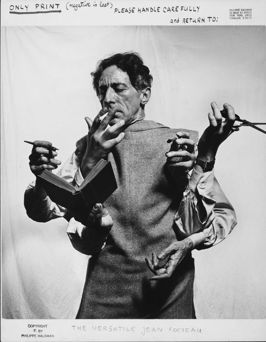 Jean Cocteau, el artista multidisciplinario, 1949. P. Halsman