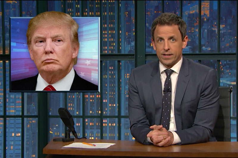 Seth Meyers Vs Donald Trump