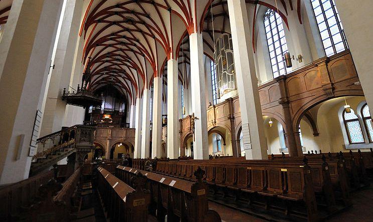 Interior de la Iglesia de Santo Tomás de Leipzig