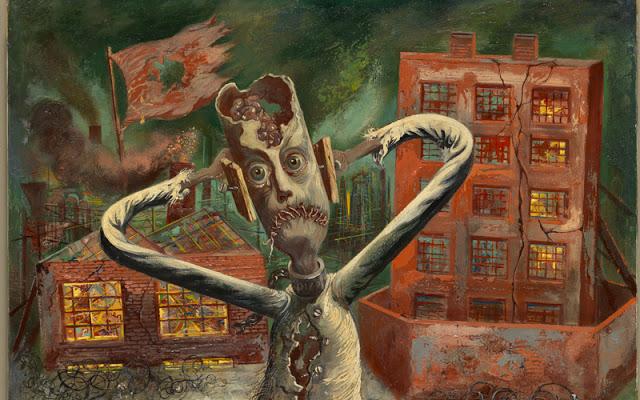 The Grey Man Dances, George Grosz, 1947