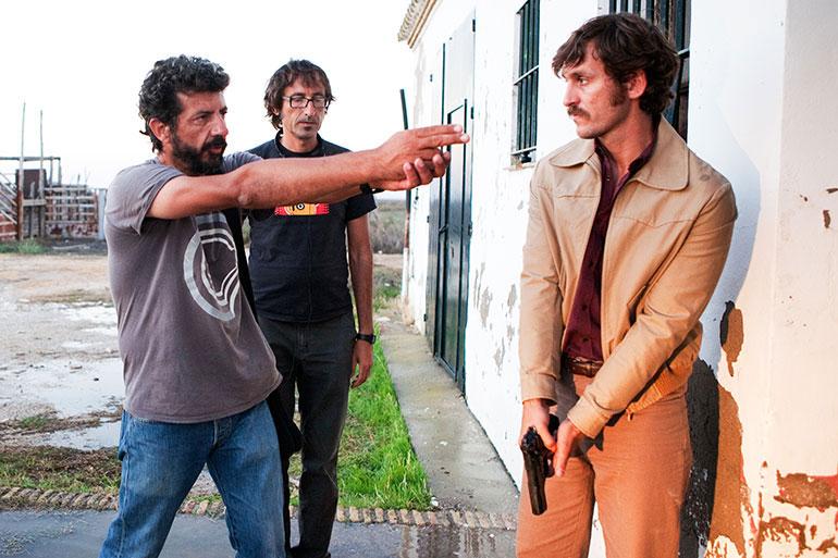 """Alberto Rodríguez en el rodaje de """"La isla mínima"""""""