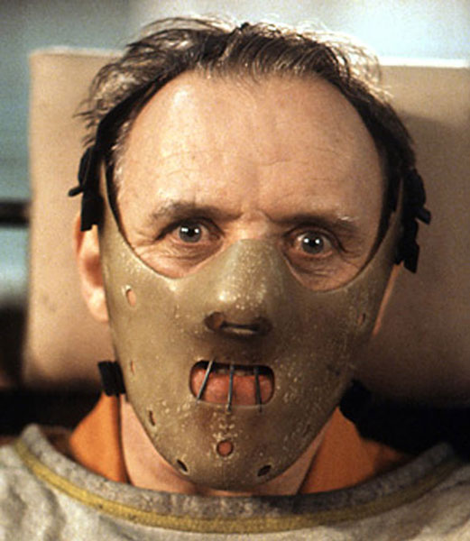 "Anthony Hopkins en ""El silencio de los corderos"""