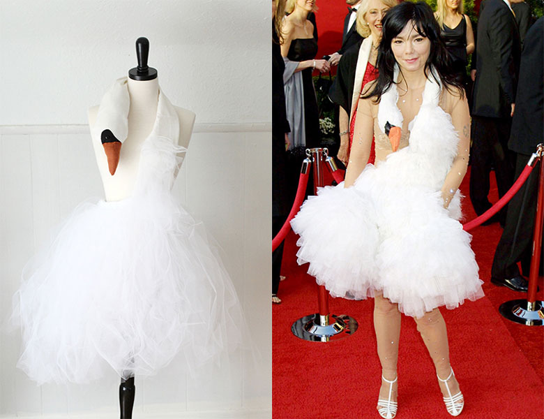 Vestido de cisne. Björk