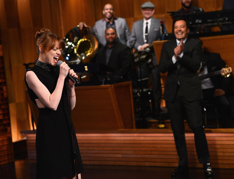 Emma Stone y Jimmy Fallon