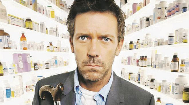 "Hugh Laurie en ""House M.D"""