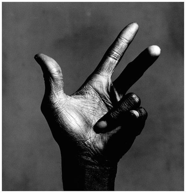 © Irving Penn. Miles Davis Hand, 1986