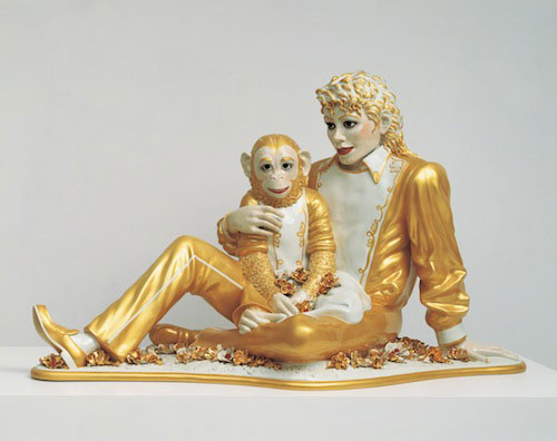 Jeff Koons, Michael Jackson and Bubbles, 1988.