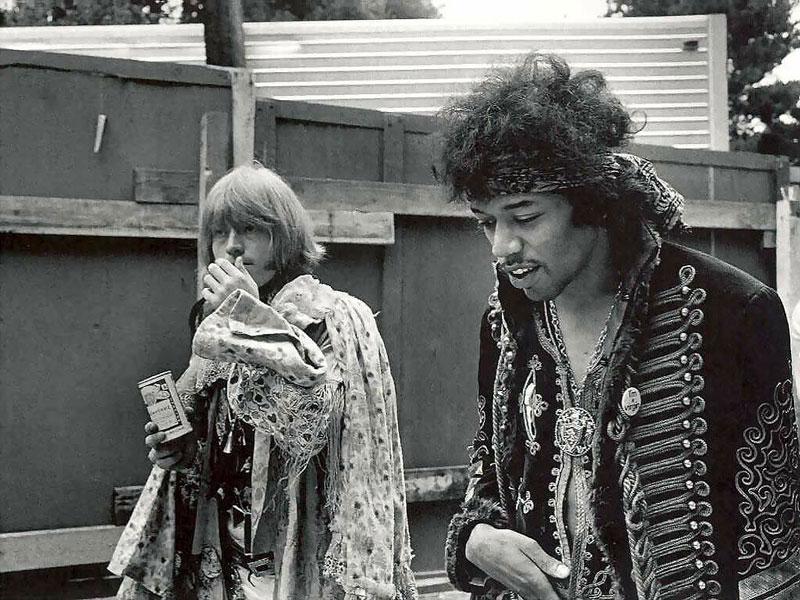 Brian Jones y Jimi Hendrix, ilustres miembros del Club de los 27