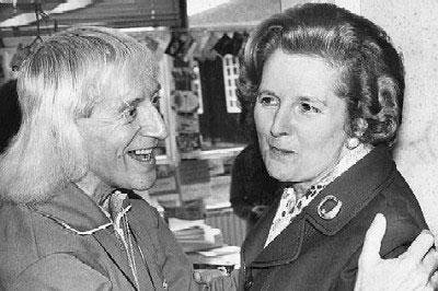 Jimmy Savile con Margaret Thatcher