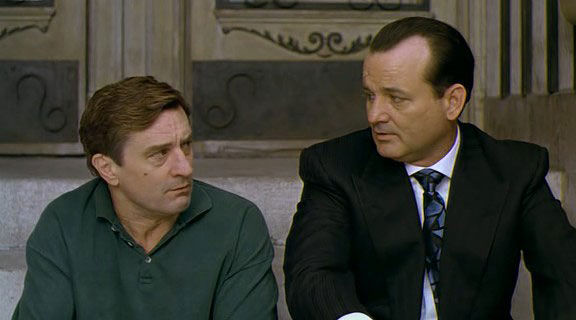 "Robert De Niro y Bill Murray en ""La chica del gangster"""