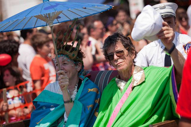 Lou Reed y Laurie Anderson, reyes del Mermaid Parade en 2010