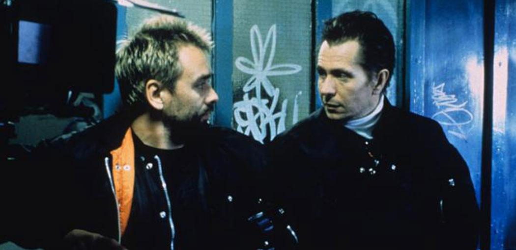 Director y guionista, Gary Oldman, con Luc Besson, productor de \
