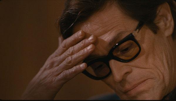 Willem Defoe representando a Pasolini en la película de Abel Ferrara
