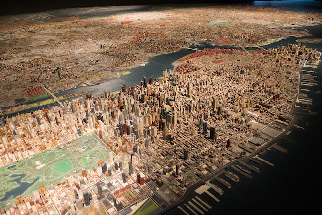 El Nueva York en miniatura del Queens Museum. Foto: Julianne Schaer.
