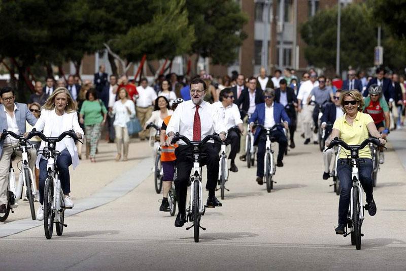 PP en bicicleta