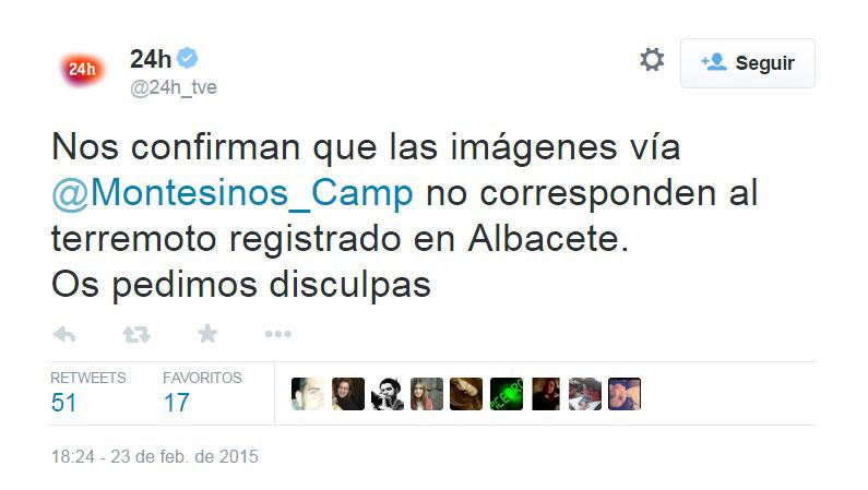 Desmentido a TVE 24 horas de The Spain Report