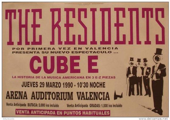 Primera y única actuación de The Residents en Valencia