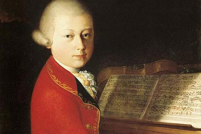 Mozart con catorce años en su paso por Viena en 1770