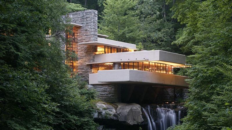 """""""Fallingwater"""" casa de la cascada del arquitecto Frank Lloyd Wright"""