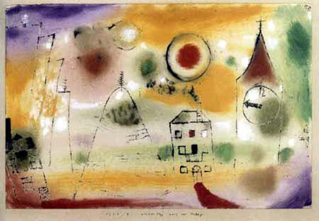 Un día de invierno antes del mediodía, Paul Klee, 1922