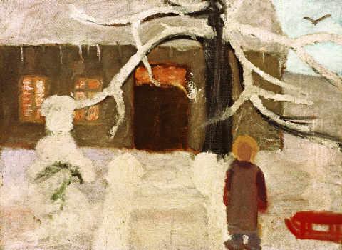 Boy in the snow, Paula Becquer
