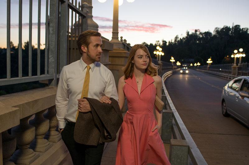"""Emma Stone y Ryan Gosling en un momento de """"La la Land"""""""