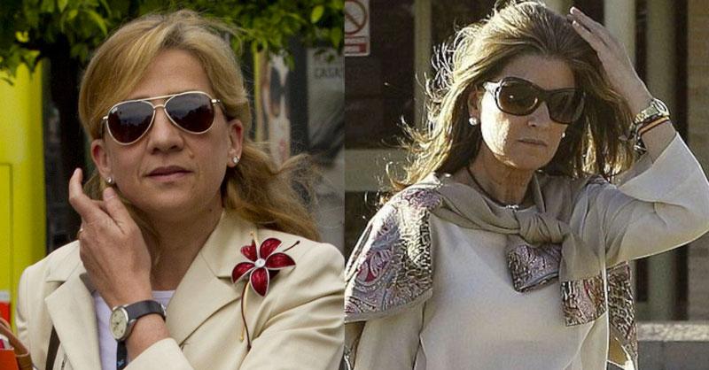 La Infanta Cristina y Rosalía Cristina