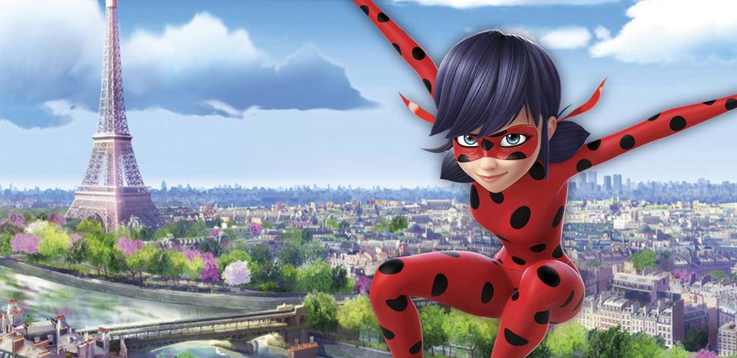 El urbanismo animado del París de Ladybug