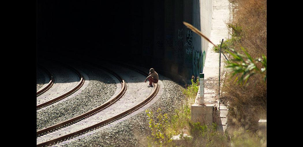 la vía del tren de cercanías en San Isidro. Foto Juanjo Hernández.