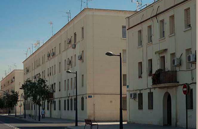 Grupo de viviendas de los años 40 en La Torre. Foto Juanjo Hernández