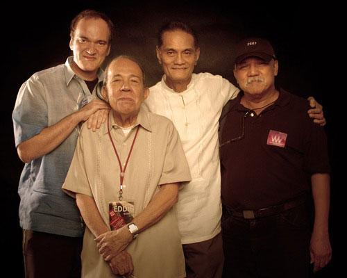 Quentin Tarantino, Eddie Romero y Cirio H. Santiago