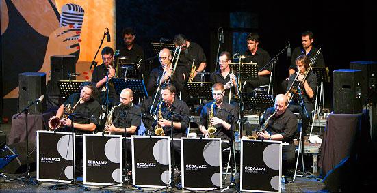 La Sedajazz Big Band en una actuación