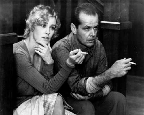 Lange y Nicholson viendo Canal 9 (Imagen de archivo)
